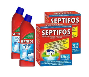 Zestaw:  Septifos VIGOR 2,4 kg + 2 x Bio-żel  do WC Septifos Vigor 750 ml