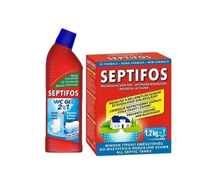 Zestaw:  Septifos VIGOR 1,2 kg + Bio-żel  do WC Septifos Vigor 750 ml
